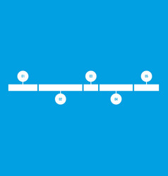 timeline infographic icon white vector image vector image