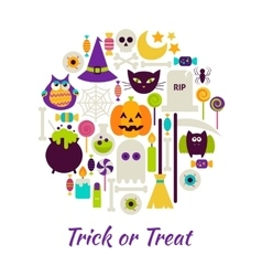 Trick or Treat Objects over White vector image vector image