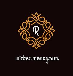 Wicker monogram vector