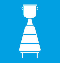 Wine distillery equipment icon white vector