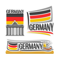 logo for germany vector image