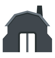 Blacksmith workshop building icon isolated vector