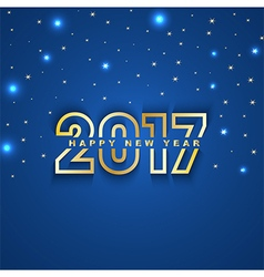 2017 New Year greeting card with stars and spot vector image vector image