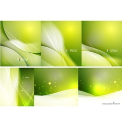 Set of abstract shining backgrounds vector