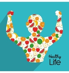 Healthy fitness lifestyle vector image