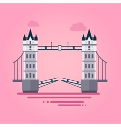 London tower bridge in flat style vector