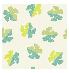 Seamless pattern of grape leaves vector