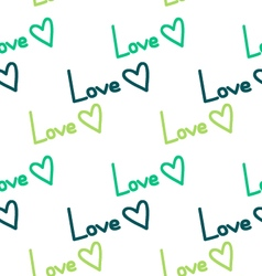 Seamless hearts love patternl vector