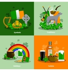 Ireland 2x2 design concept set vector