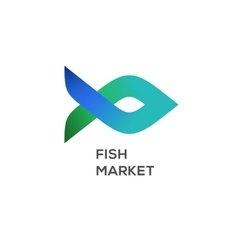 Logo of fish market label and badge vector
