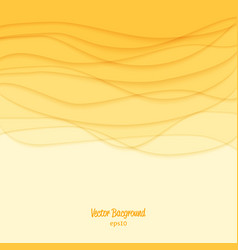 Abstract background yellow waves vector