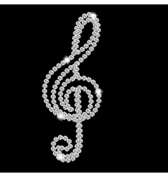 Abstract beautiful black Diamond Music Note vector image vector image