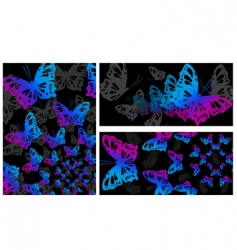 abstract butterly design vector image vector image