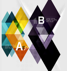 abstract geometric concept vector image