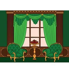 Beautiful vintage interior vector image