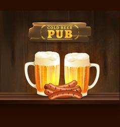 Beer pub vector