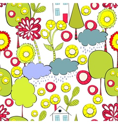 Cartoon style seamless background vector image