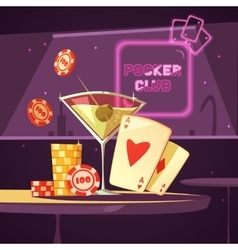 Casino Poker Club Retro Cartoon vector image vector image