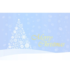 Christmas background with gold tree vector