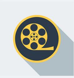 Cinema type icon vector