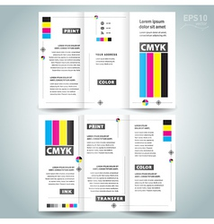 cmyk polygraphy - brocure design template vector image vector image