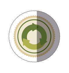 Color circular frame sticker with circular vector