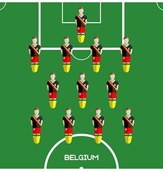 Computer game belgium football club player vector