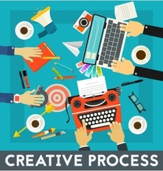 Creative Process Concept Banner vector image