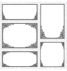 decorative frame set and pattern vector image vector image