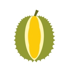 Durian fruit icon flat style vector