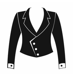 Female jacket icon simple style vector image vector image