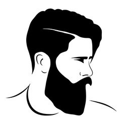 man silhouette hipster style vector image