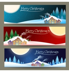 Merry Christmas Banners vector image vector image