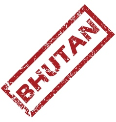 New bhutan rubber stamp vector