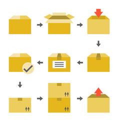 pictogram of delivery icons set vector image vector image