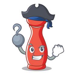 Pirate pepper mill character cartoon vector