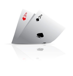 pocket aces vector image