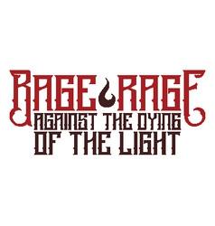 Rage rage quote vector