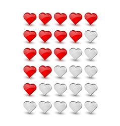 Rating hearts vector image vector image