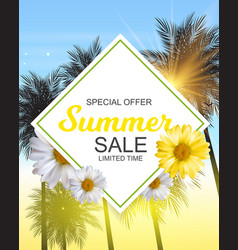 Summer sale banner template for your business vector