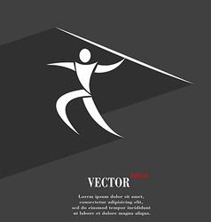 Summer sports javelin throw symbol flat modern web vector