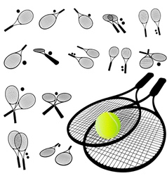 tennis racket silhouette vector image