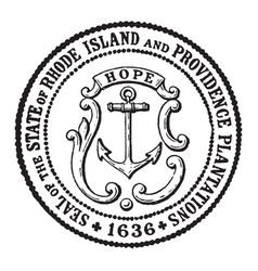 The seal of the state of rhode island and vector