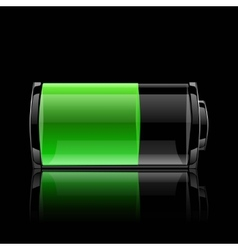 User interface battery charge level indicator vector image vector image