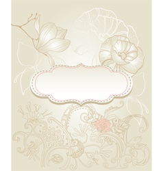 vintage style background vector image vector image