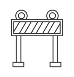 Fence light construction icon vector