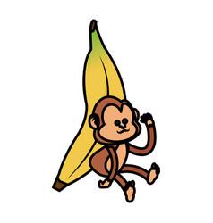 Isolated monkey cartoon design vector