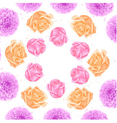 Background with decorative delicate flowers image vector