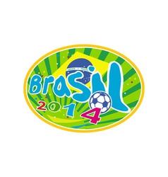 Brasil 2014 soccer football ball vector