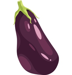 Eggplant vegetable cartoon vector